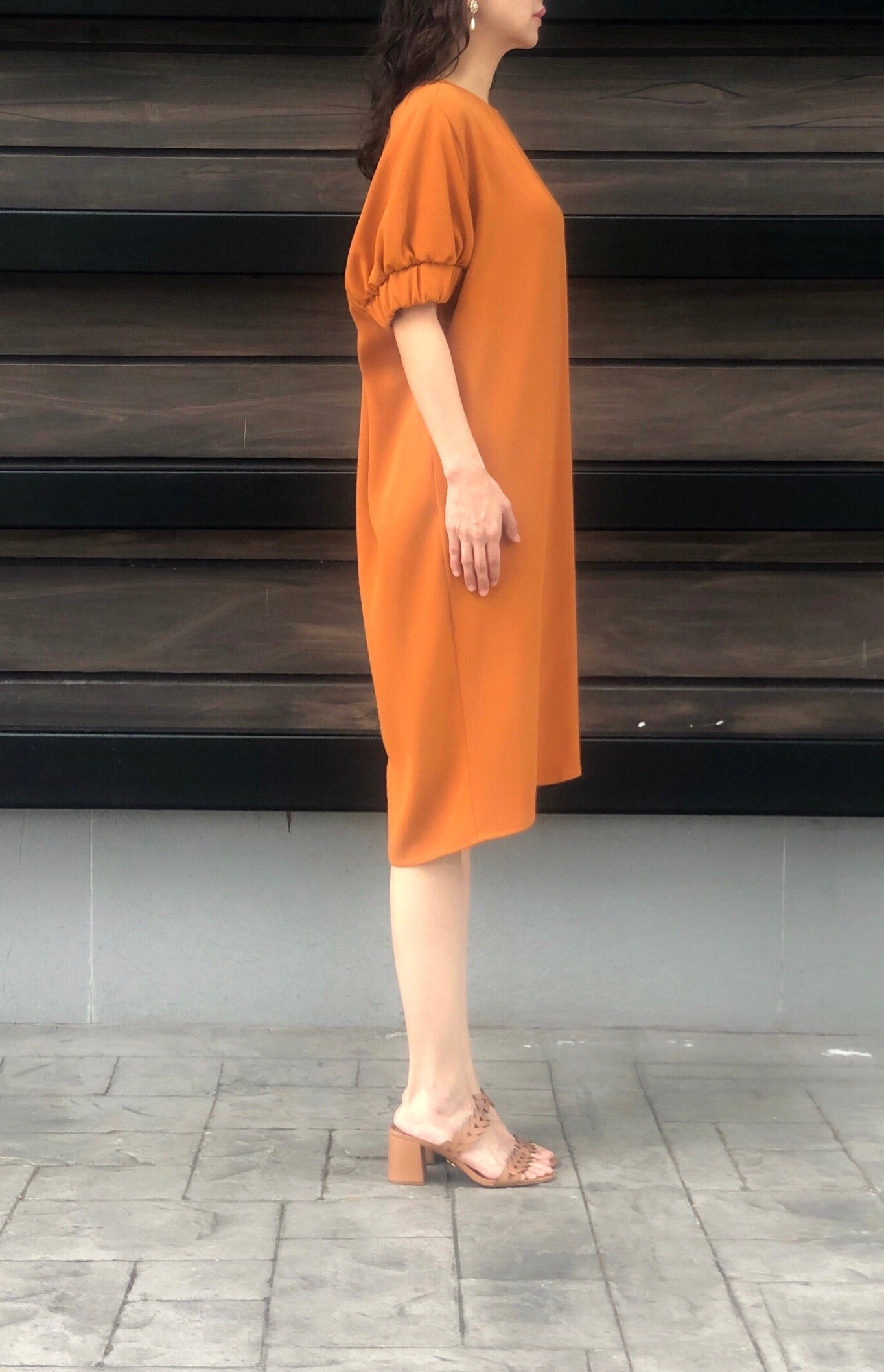 Maple Dress in Apricot