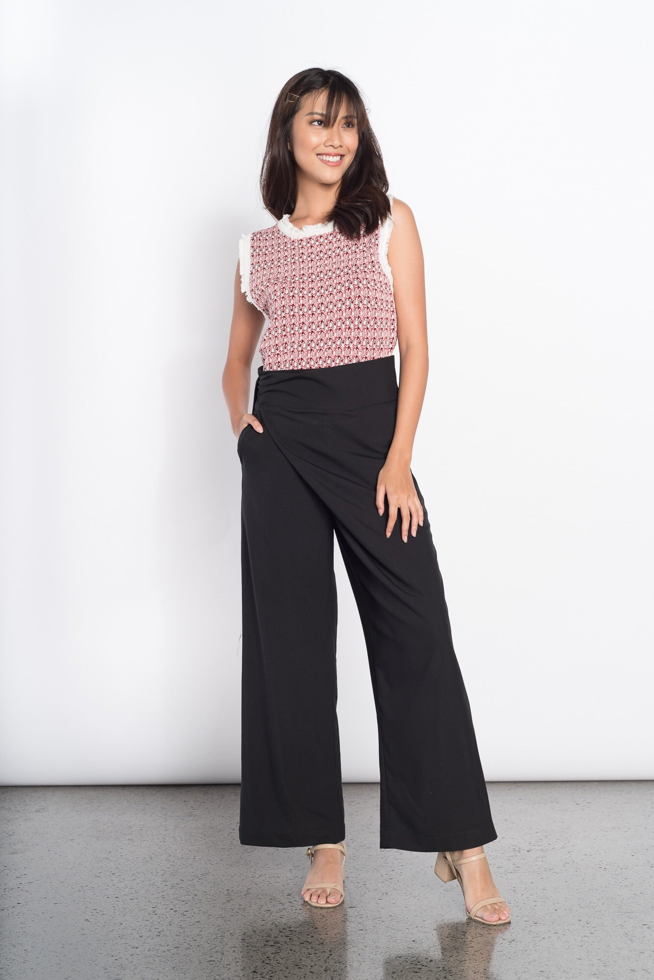 Greet Wide Leg Pants in Black