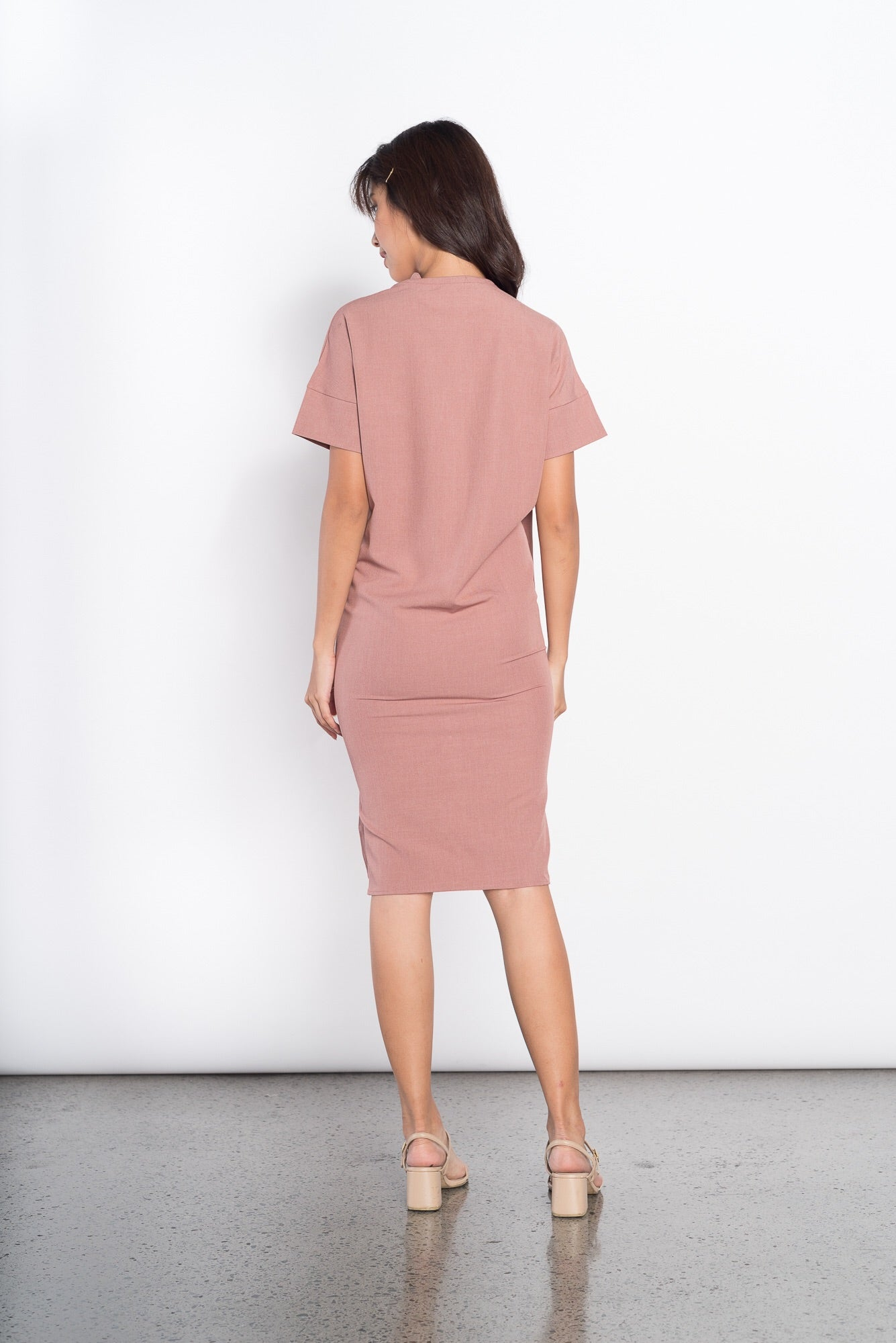 Frances S/S Collared Dress in Pink