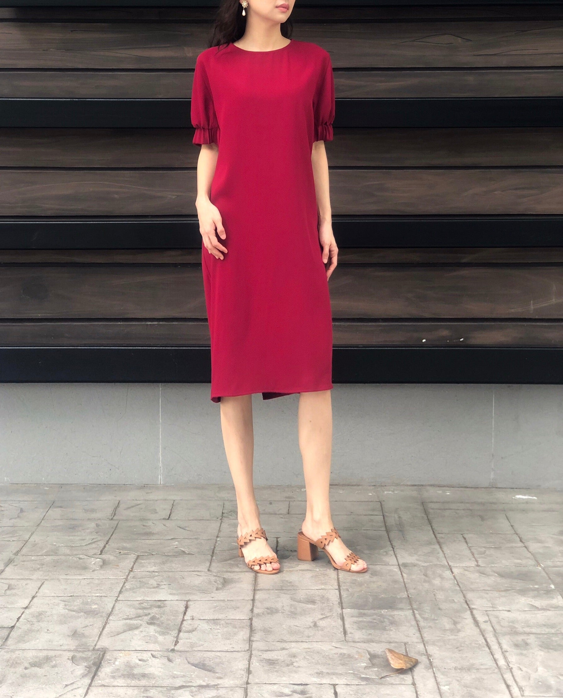 Maple Dress in Red