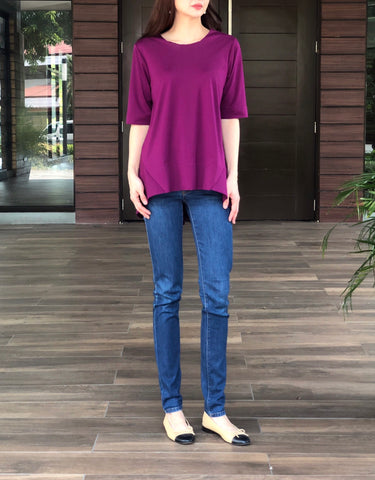 Drusilla Top in Maroon