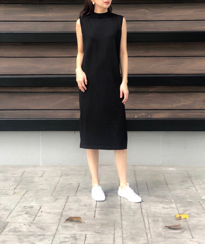 Leonore S/L Knitted Dress in Black