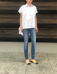 Justice Button Down Top in White