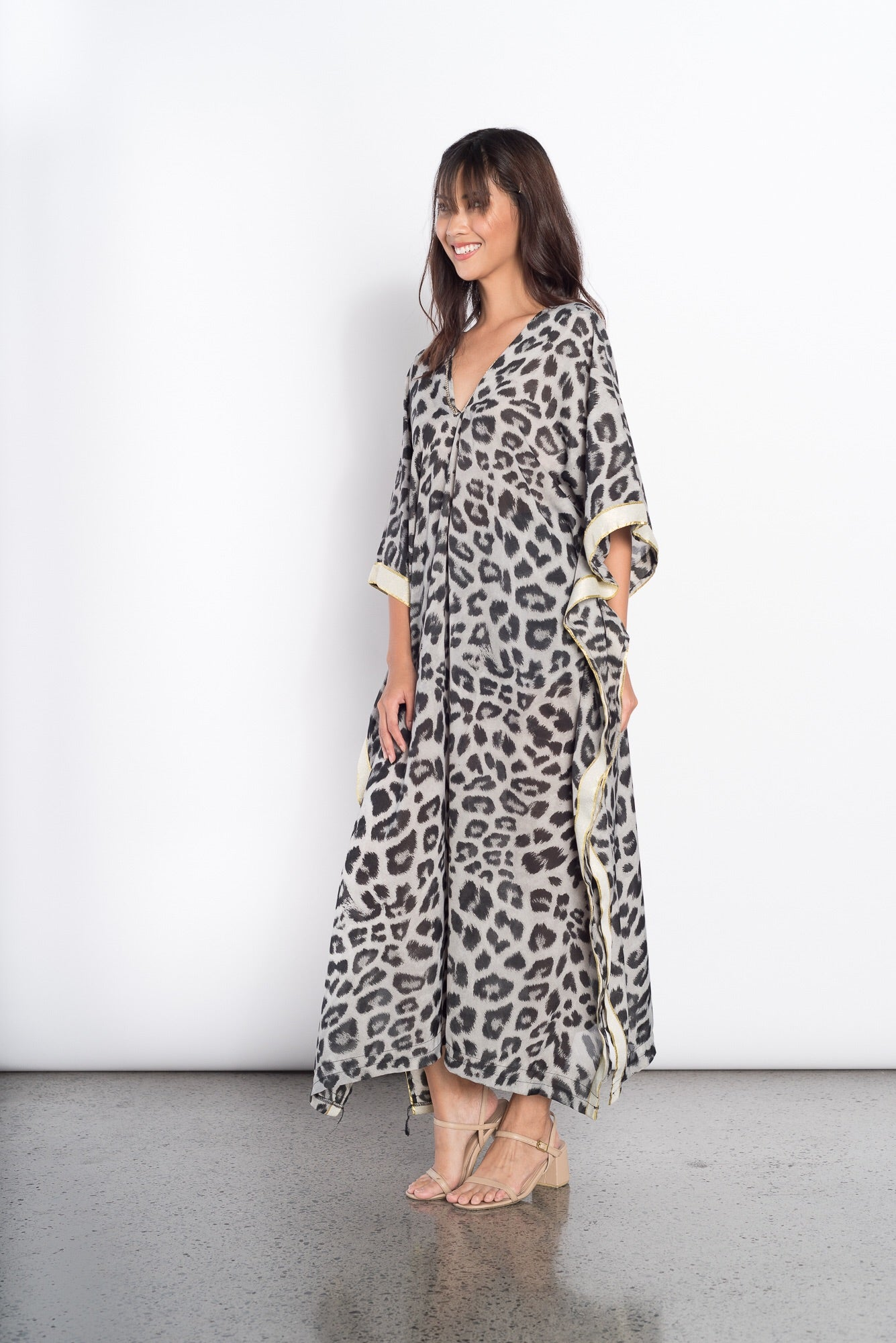 Glenna Cover Up in Leopard Print