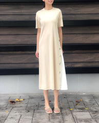 Kassidy Dress in Beige