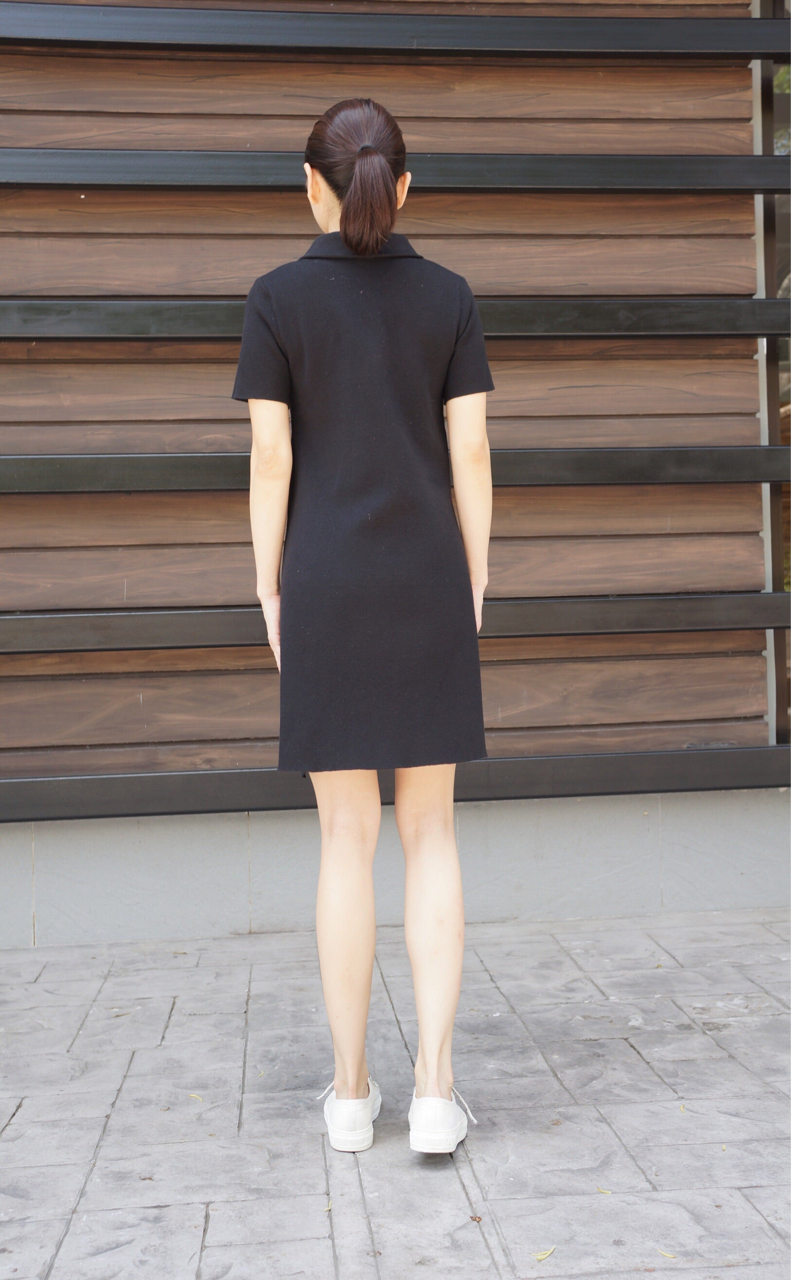 Karl Knitted Dress in Black
