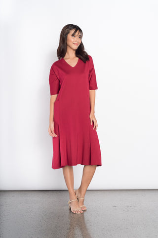 Donoma Dress in Coral