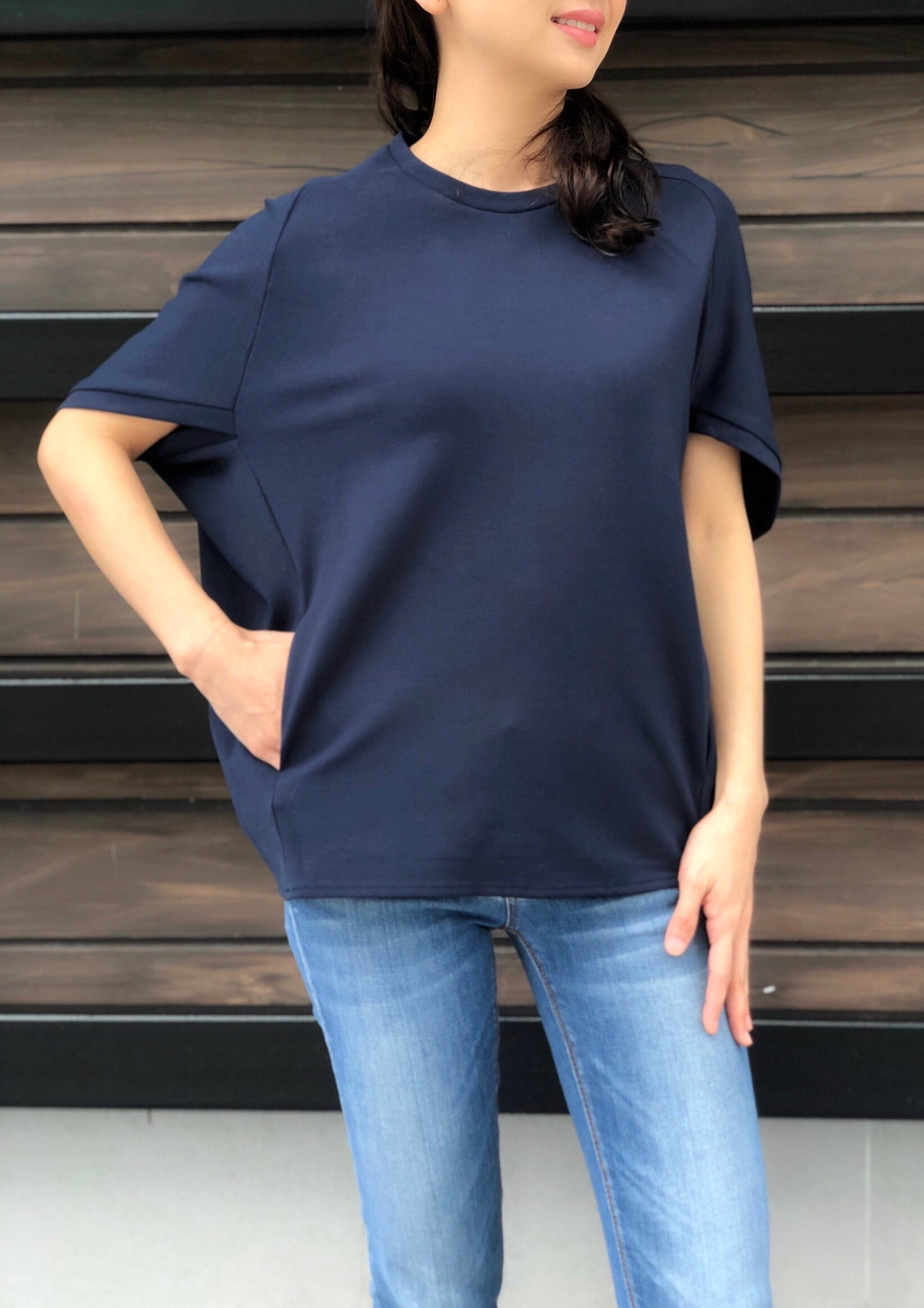 Malia Top in Navy