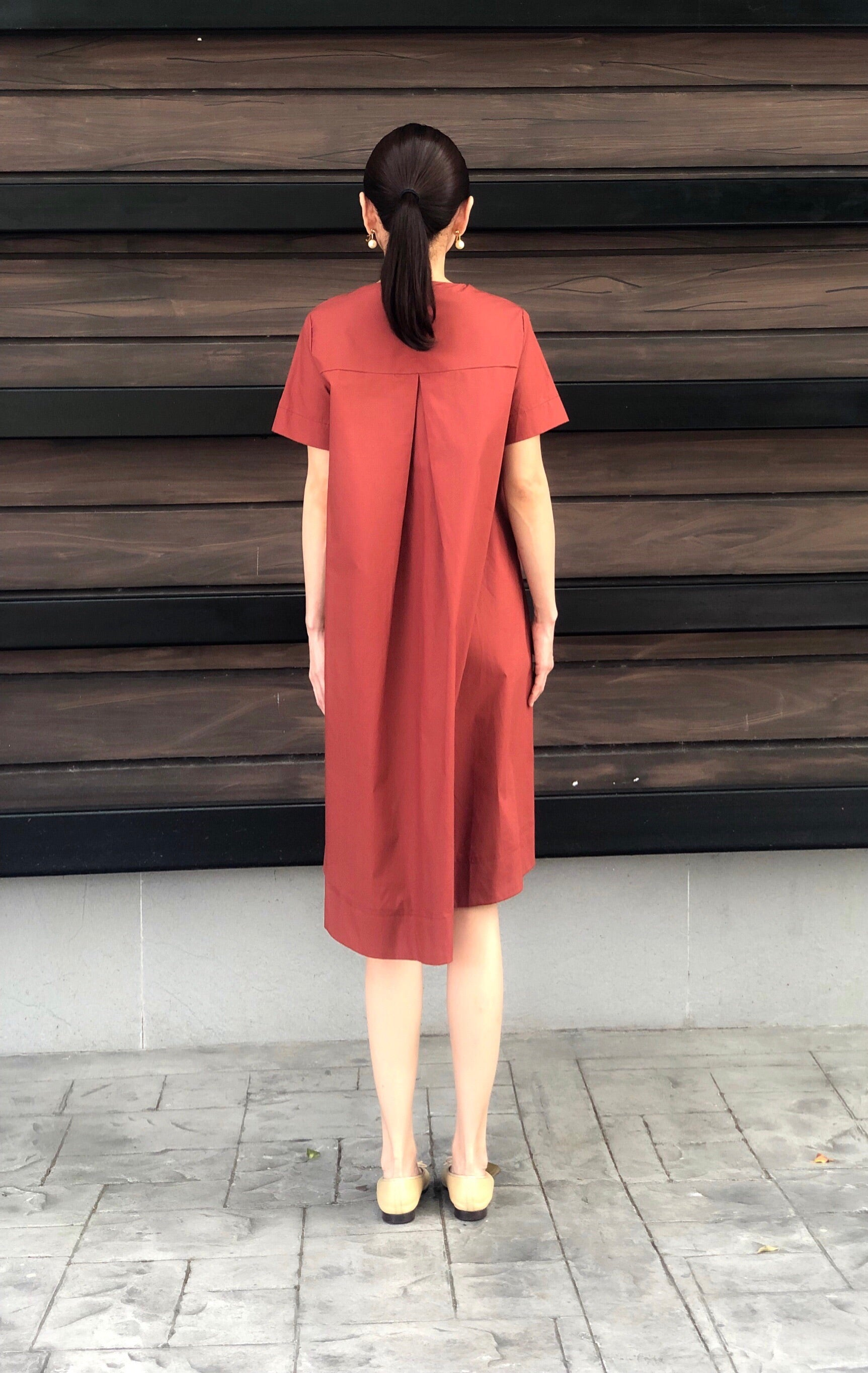 Kaia Dress in Rust