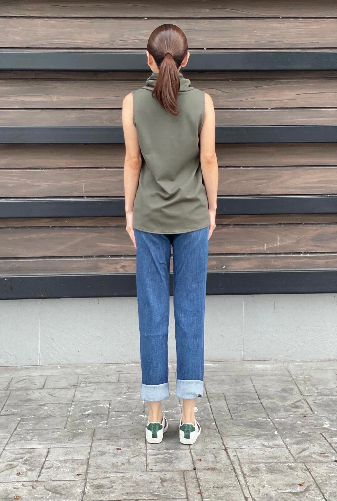 Roslyn Top in Olive