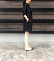 Judite Soft Trench in Black