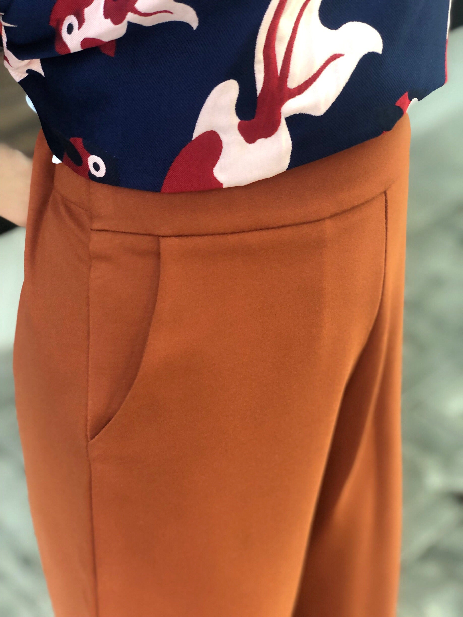 Kalisha Culottes in Rust
