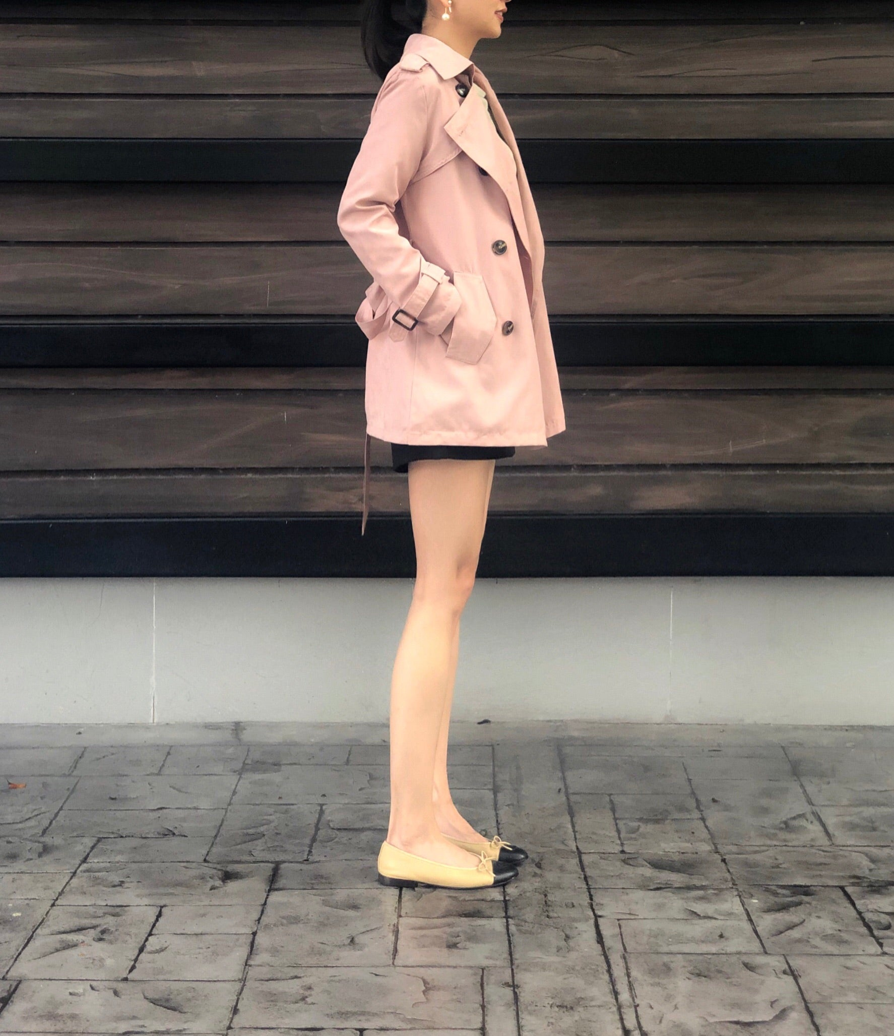 Jorunn Trench in Pink