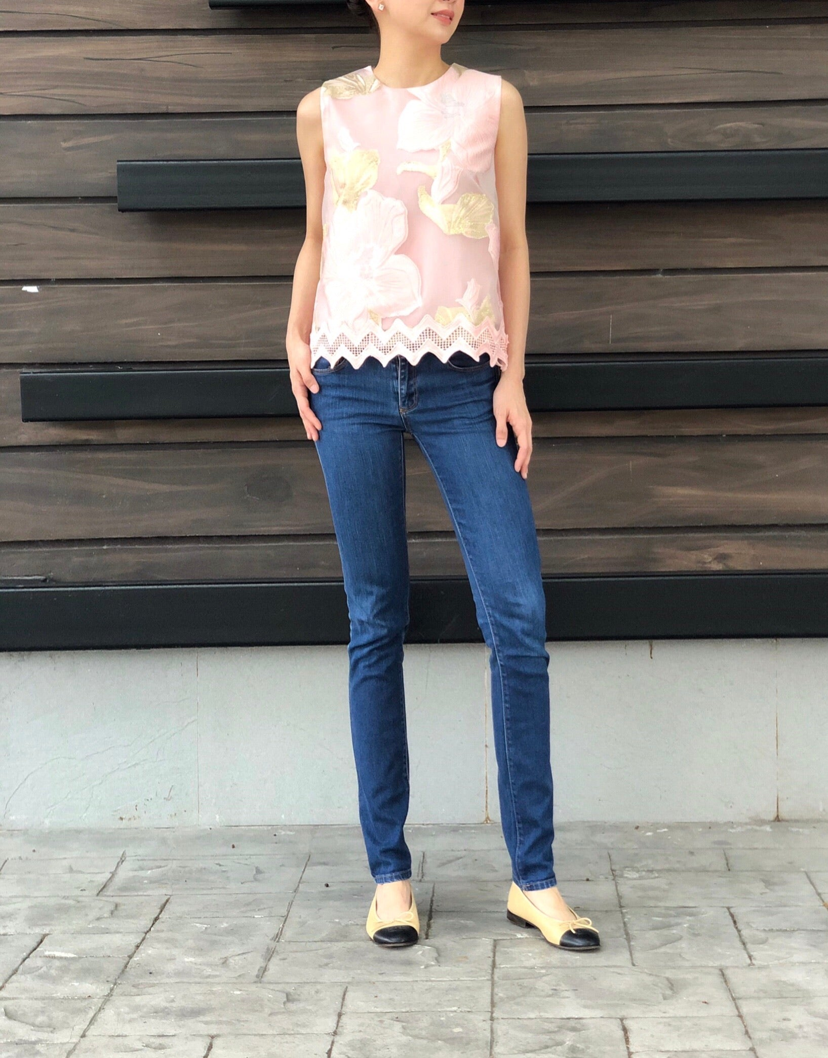 Odessa Lace Top in Pink Gold