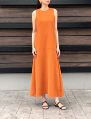 Donoma Dress in Rust