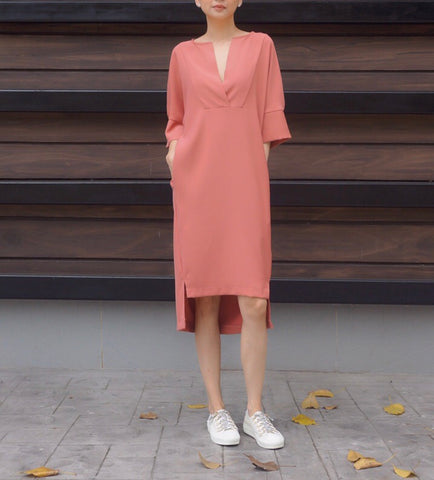 Jacey Zip Dress in Pink