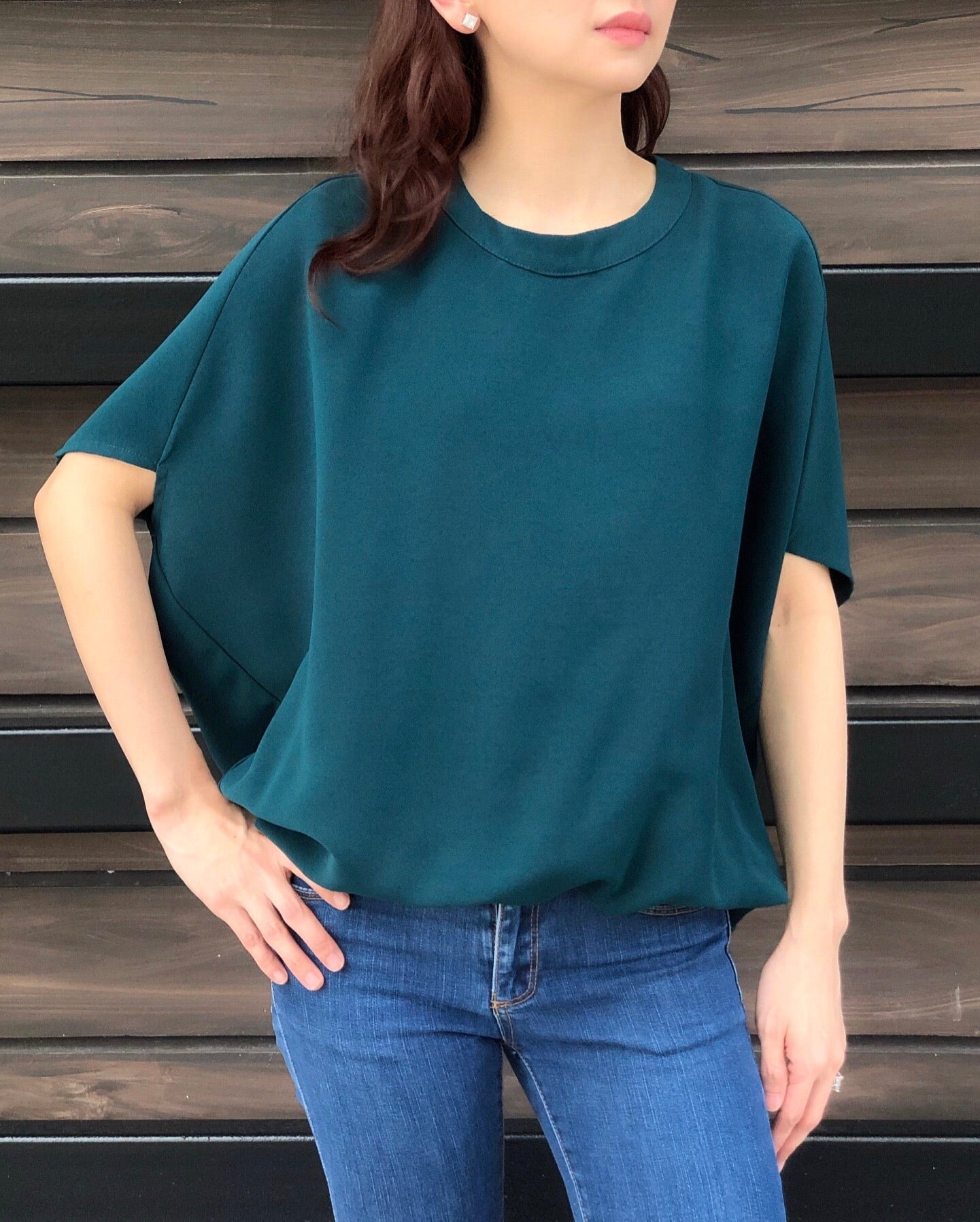 Manila Top in Emerald