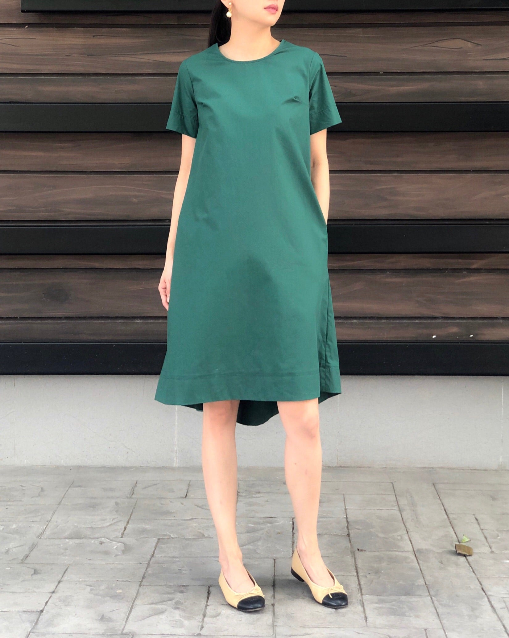 Kaia Dress in Emerald