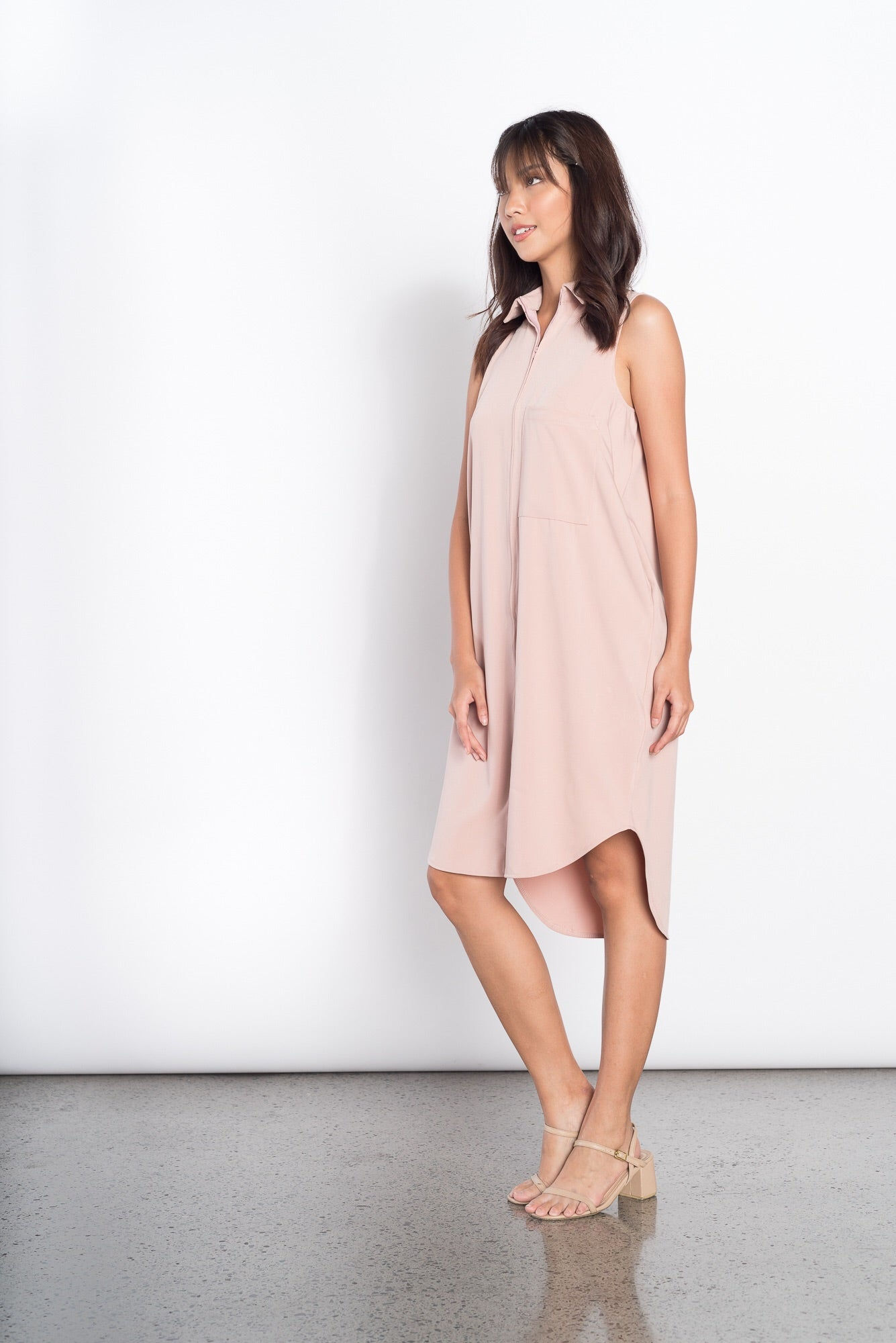 Fleur S/L 2 Pocket Dress in Pink