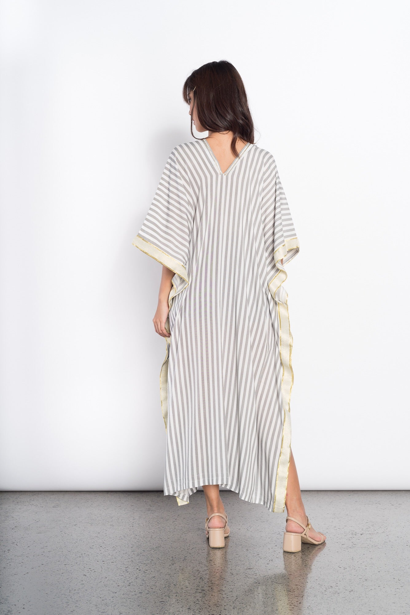 Glenna Cover Up in Black Stripes