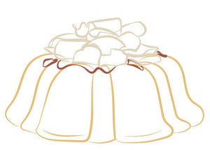 Vanilla pound cake in the shape of a bundt filled with raspberry curd and topped with white chocolate shavings. Serves 12. Packaged in our signature yellow and white striped gift box with a blue bow. Oprah's Favorite Things.