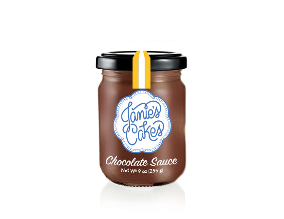 Chocolate sauce by the jar. Featured in the Saucy Jane, Dolce Vita Jane, and More Amour Jane