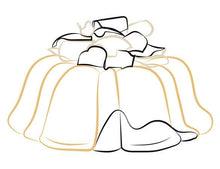 Load image into Gallery viewer, Marbled vanilla and chocolate pound cake in the shape of a bundt filled with chocolate sauce and topped with dark and white chocolate shavings. Serves 12. Oprah's Favorite Things. Packaged in our signature yellow and white striped gift box with a blue bow.