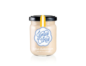 Italian buttercream by the jar. Featured in the Italian Jane