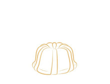 Load image into Gallery viewer, Each Janie's Cake Petite size pound cake is packaged in a clear container with a Janie's logo sticker and yellow and white striped closure sticker.
