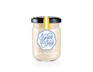 Vanilla buttercream in a jar. Featured in our Celebration Jane.