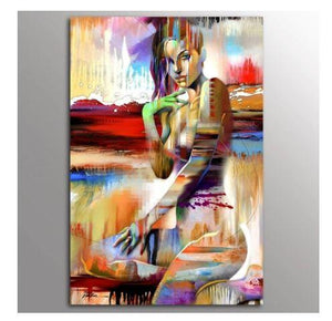 Abstract Girl Canvas Paintings, Canvas Pantings, Prints, Abstract Prints, Abstract Girl Prints, Abstract Girl Paintings, Wall Decor, Home Decor