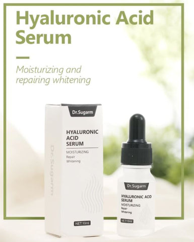 	Dr Sugarm's Hyaluronic Acid Serum  •	Effects •	Hyaluronic acid serum helps deep moisturizing, improving dryness, roughness caused by lack of water reduces fine lines, nourish and lift the skin while making it firm, brightening the skin, prevents wrinkles, shrink pores, improves loose skin, slows down aging.