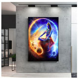 hindu wall art, outer space canvas wall art