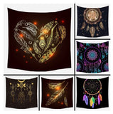 wall hanging tapestries for home decor wall decor, bedroom, living room, kid's room, tapestries with hearts