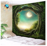 wall hanging tapestries for home wall decoration, forest tapestries, throw blankets, large tapestries