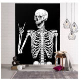 skeleton tapestry, wall hanging tapestry, wall mounted taps and tapestries for halloween