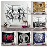 wall hanging tapestries, sun tapestries, moon tapestries, mandala tapestries, wall decor, home decor