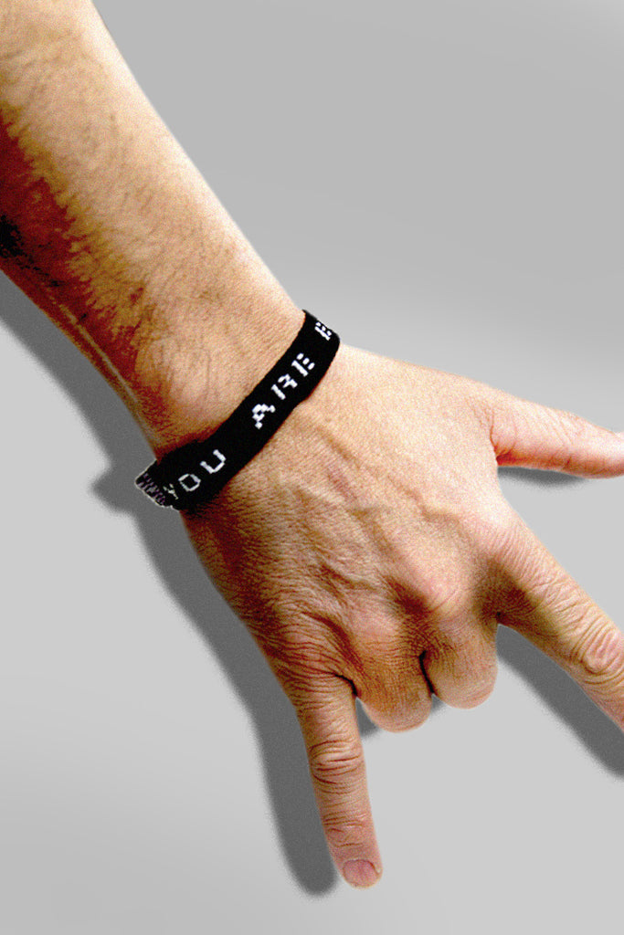 """YOU ARE ENOUGH"" BLACK WRISTBAND"