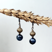 Birthstone Earrings: Hawk's Eye