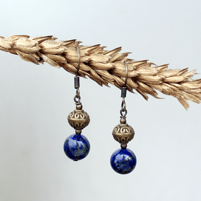 Birthstone Earrings: Lapis Lazuli
