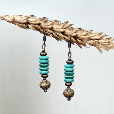 Birthstone Earrings: Turquoise