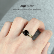 Obsidian Birthstone Ring