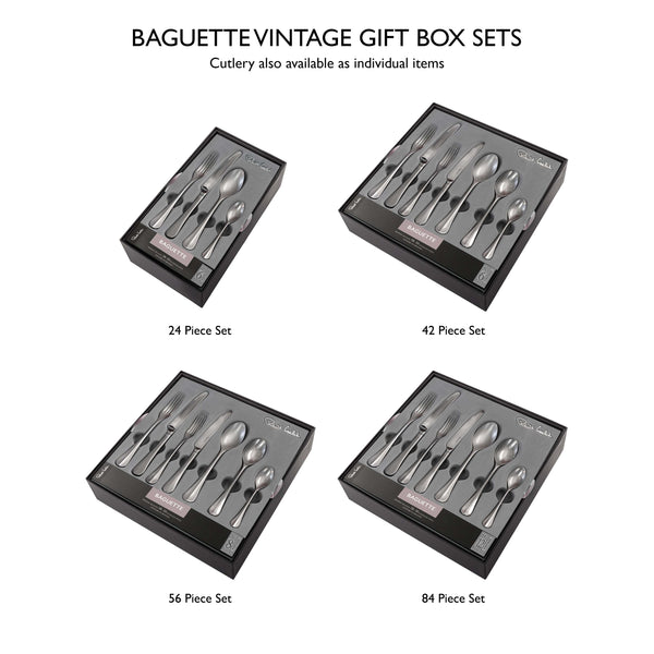 Baguette Vintage Cutlery Set, 56 Piece for 8 People