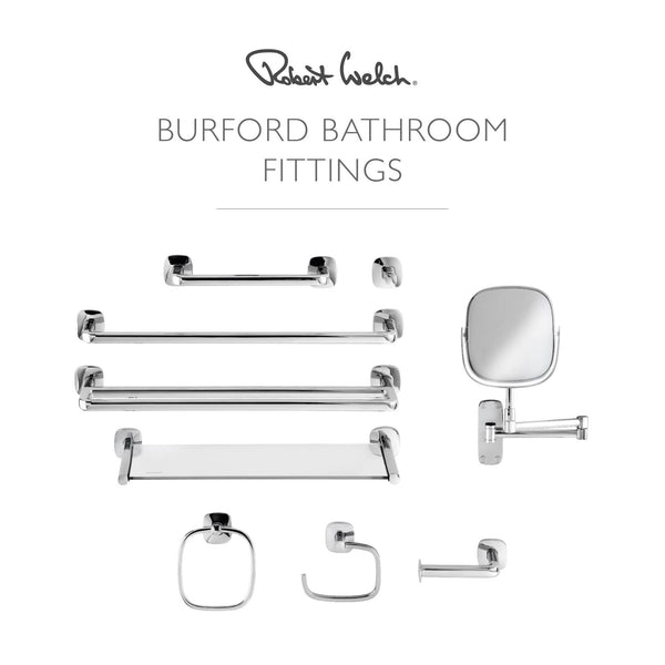 Bathroom Fittings by Robert Welch Stainless Steel and Glass Shelf from the Burfo