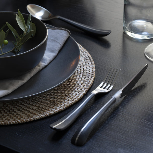 Contour Noir Satin Table Knife