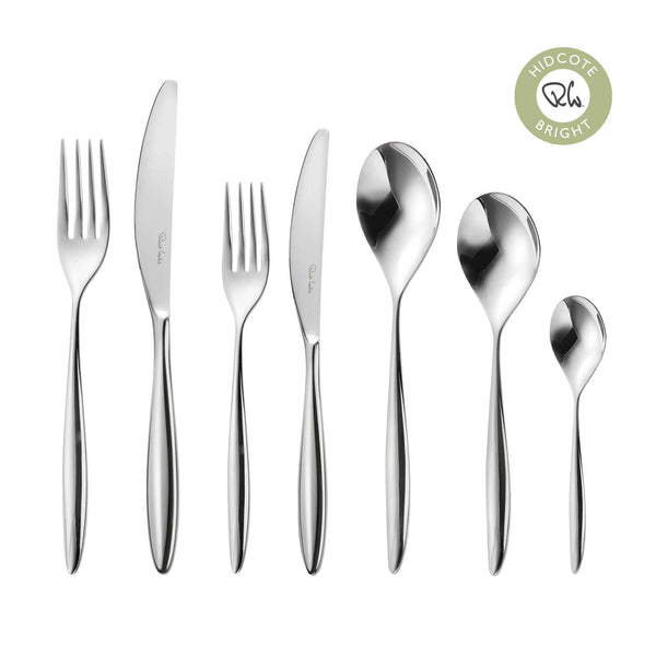 Hidcote Bright Cutlery Set, 56 Piece for 8 People