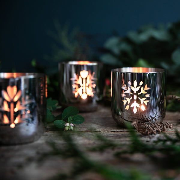 Meadow Tealight Holder, Set of 3 - Lifestyle