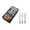 Radford Bright Cutlery Set, 27 Piece for 6 People including 3 Piece Cheese Set - Open Box