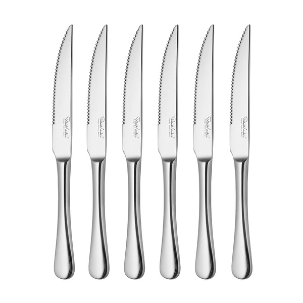 Radford Bright Cutlery Set, 48 Piece for 6 People including 6 Free Steak Knives