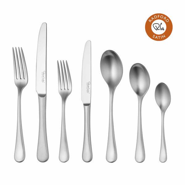 Radford Satin Cutlery Set, 84 Piece for 12 People